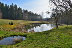 Ponds in the countryside of South Bohemia Stock Photography