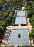 Ponds in the Garden of the  Alcazar Stock Photo