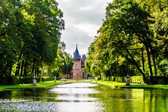 Ponds and Lakes in the Parks surrounding Castle De Haar. In the Netherlands royalty free stock photos