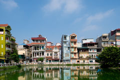 Pondside Homes, Hanoi, Vietnam Royalty Free Stock Images