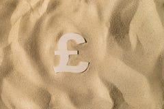 Pondteken op het Zand stock afbeelding