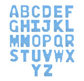 Pone letras a alfabeto inglés Azul del color Fotografía de archivo libre de regalías