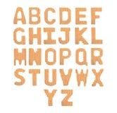 Pone letras a alfabeto inglés Naranja del color Fotografía de archivo