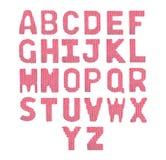 Pone letras a alfabeto inglés Rojo del color Imagenes de archivo