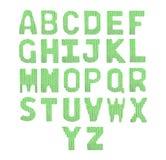 Pone letras a alfabeto inglés Verde del color Imagen de archivo