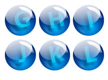 Pone letras a esferas Fotos de archivo