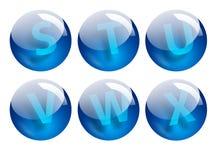 Pone letras a esferas Foto de archivo libre de regalías