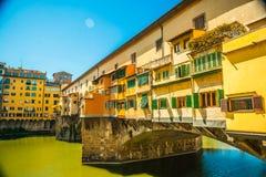 Pone Vecchio over Arno river in Florence, Italy Stock Photo