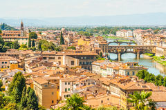 Pone Vecchio over Arno river in Florence, Italy Stock Photography