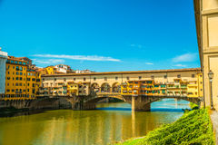Pone Vecchio over Arno river in Florence, Italy Stock Image
