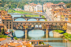 Pone Vecchio over Arno river in Florence, Italy Royalty Free Stock Photography