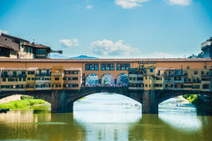 Pone Vecchio over Arno river in Florence, Italy Royalty Free Stock Photo