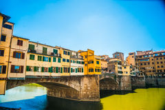 Pone Vecchio over Arno river in Florence, Italy. Stock Photography