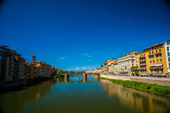 Pone Vecchio over Arno river in Florence, Italy. Royalty Free Stock Images