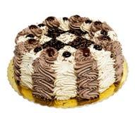 _poner crema torta Foto de archivo libre de regalías