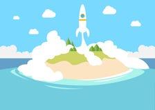 Poner en marcha un pequeño inicio privado con el cohete como ejemplo libre illustration