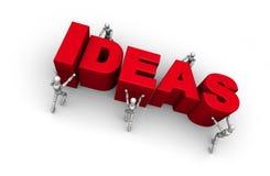 Poner juntas ideas Imagen de archivo libre de regalías