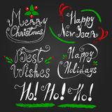Poner letras al sistema para las vacaciones del Año Nuevo de la Navidad Fotos de archivo libres de regalías