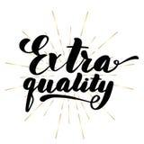 Poner letras a calidad adicional de la inscripción Vector stock de ilustración