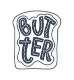 Poner letras a cita, gran diseño para cualquier propósitos Lema del vector Comida sabrosa de la dieta del desayuno Pasto, nutrici ilustración del vector