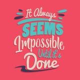 Poner letras a citas de motivación del cartel de la tipografía stock de ilustración