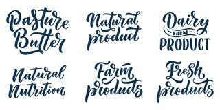 Poner letras a citas, gran dise?o para cualquier prop?sitos Lema del vector Comida sabrosa de la dieta del desayuno Pasto, nutric libre illustration