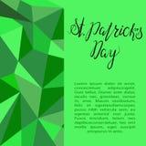 Poner letras a día feliz del St Patricks Imágenes de archivo libres de regalías