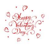 Poner letras a día de tarjetas del día de San Valentín feliz en el fondo blanco Fotos de archivo