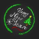 Poner letras a Feliz Año Nuevo Imagen de archivo