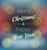 Poner letras a Feliz Navidad y a Feliz Año Nuevo Imagen de archivo libre de regalías