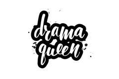 Poner letras a la reina del drama ilustración del vector