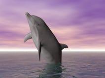 Poner los calzones al delfín ilustración del vector