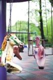 Poneys op speelplaats Royalty-vrije Stock Afbeelding