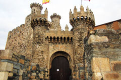 Ponferrada castle gate Stock Photos