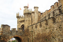 The ponferrada castle Stock Image