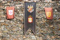 Ponferrada flaga Zdjęcia Stock