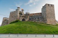 Ponferrada slott Fotografering för Bildbyråer