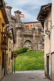 Ponferrada slott Arkivfoto