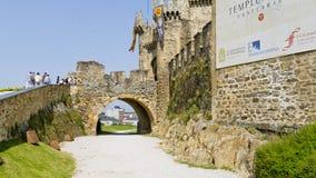 Ponferrada slott, Leon landskap, Spanien, Royaltyfria Bilder