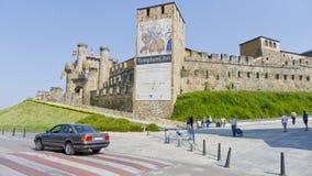 Ponferrada slott, Leon landskap, Spanien, Arkivbild