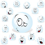 Pong ball. Cartoon wit many expressions Stock Image