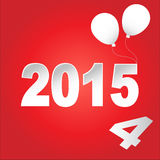 Pong balls Happy new year 2015. balloon 2014 to 2015.  Royalty Free Stock Photo
