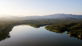 Pong Chor Reservoir en Mae Wang National Park fotografía de archivo libre de regalías