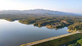 Pong Chor Reservoir en Mae Wang National Park fotografía de archivo