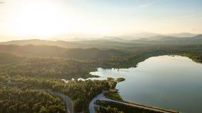 Pong Chor Reservoir en Mae Wang National Park imagen de archivo libre de regalías
