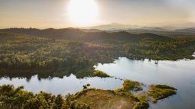 Pong Chor Reservoir en Mae Wang National Park foto de archivo