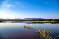 Pong Chor Reservoir en Mae Wang National Park imagenes de archivo