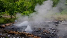 Pong Duet Geyser, Chiang Mai, Thailand stock video footage