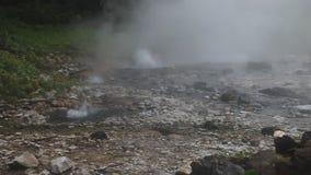 Pong Duet geyser. In Thailand stock video
