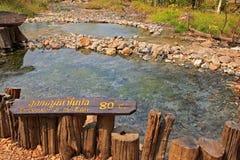 Pong Nam Lon Tha Pai Gorące wiosny Obrazy Stock